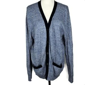 American Eagle Blue Button Up Cardigan